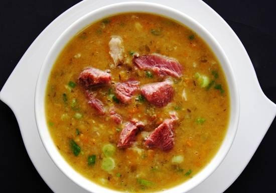 Как приготовить гороховый суп с мясом пошаговый