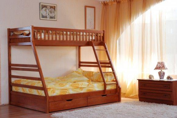 Для комфорту двох діток – велике ліжко thumbnail
