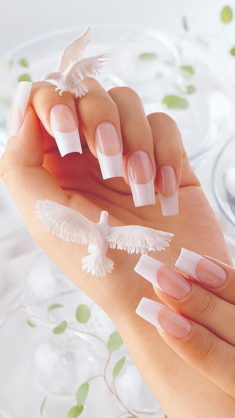 Маникюр длинные красивые ногти