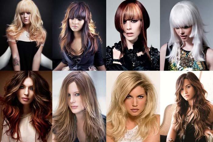 Модные стрижки на длинные волосы с челкой женские за 30
