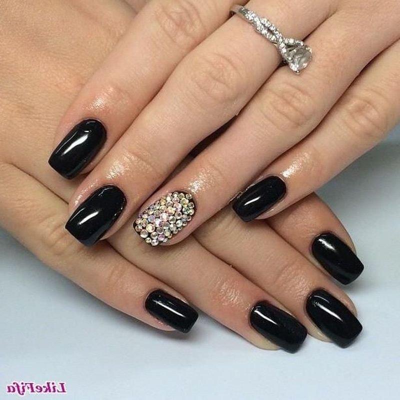 Дизайн ногтей черный гель лак фото 68