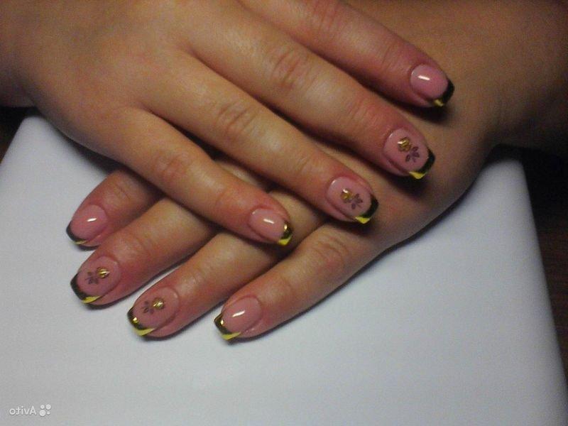 Короткое наращивание ногтей фото дизайн