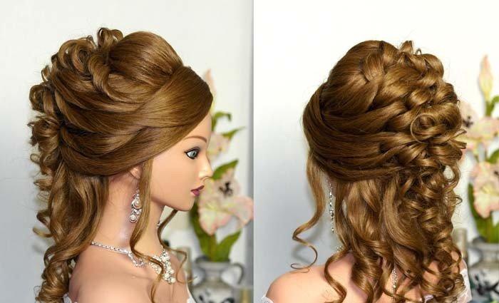 Зачіски на середні волосся  весільні 1c6ee32f44a87