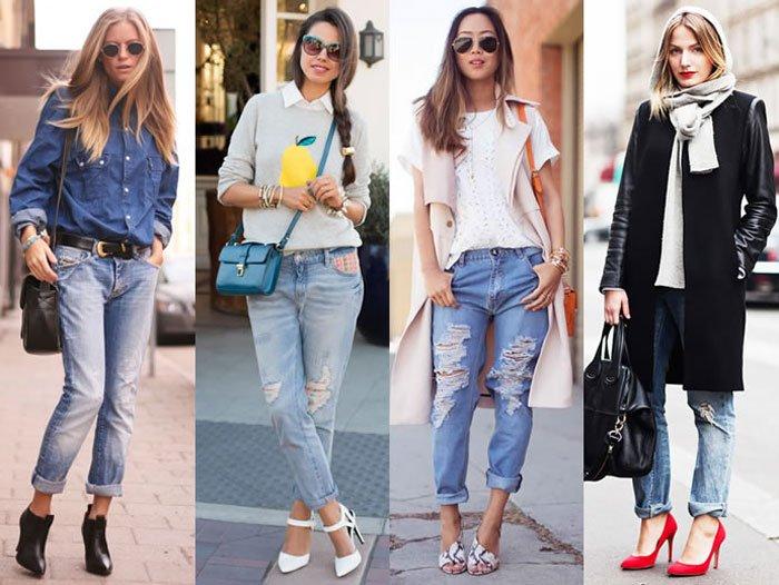 Секрети з чим носити джинси бойфренди  краса і недбалість  f6d02b07a9d78