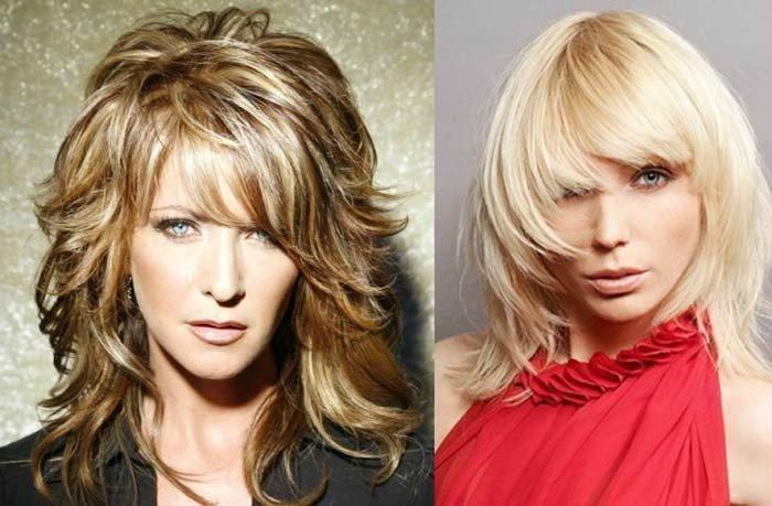 Каскадные причёски для волос средней длины