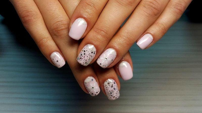 Дизайн на короткие круглые ногти гель лаком фото