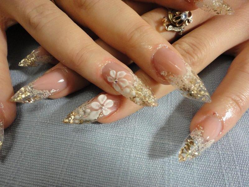 Как сделать аквариумные ногти гелем 134