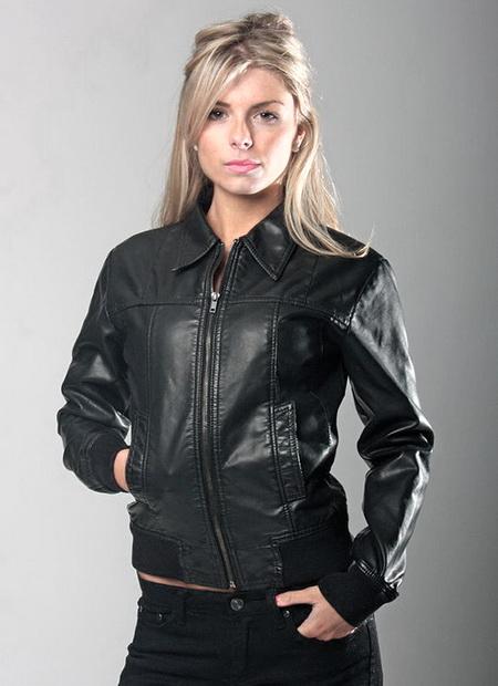 женские стильные кожаные куртки 2015, новинки сезона фото