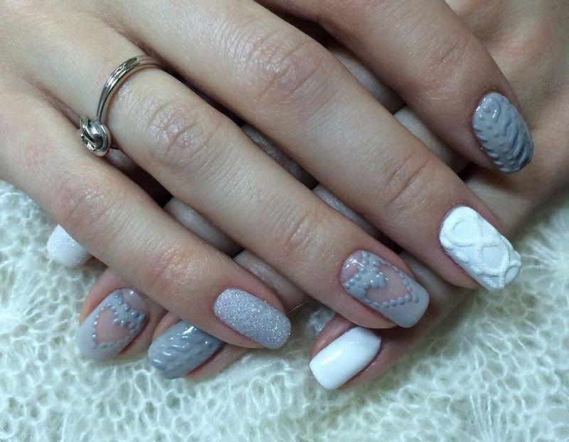 Объемный дизайн на ногтях