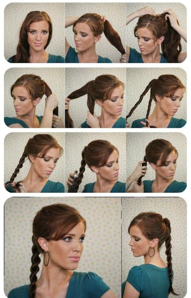 Косички на средние волосы своими руками фото поэтапно для