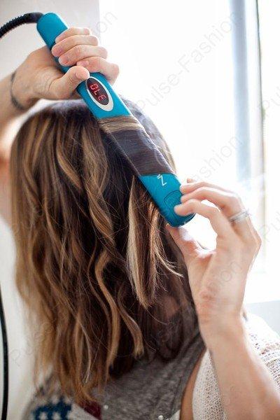 Укладка утюжком на средние волосы в домашних условиях 920