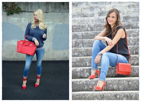 образы с красными туфлями фото
