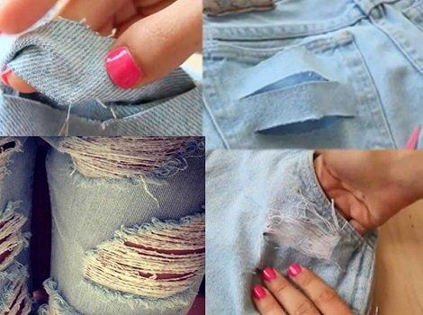 Как разорвать джинсы в домашних условиях