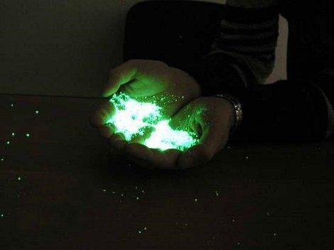 Как сделать фосфор которая светится в темноте