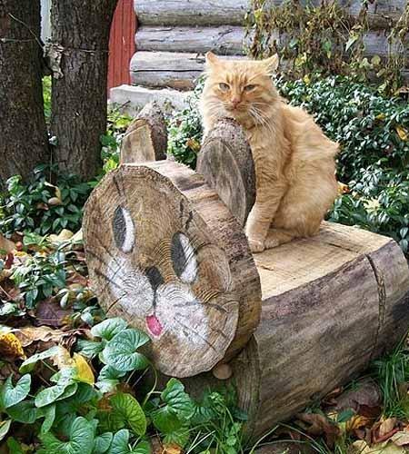 Животные из дерева своими руками для сада