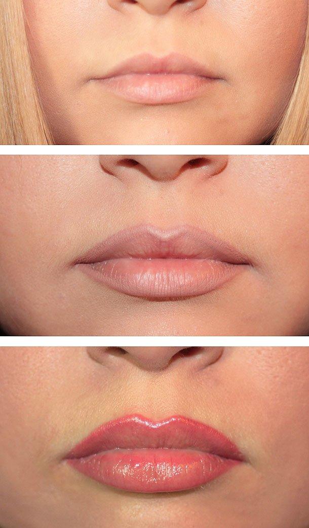 Макияж для губ увеличить губы