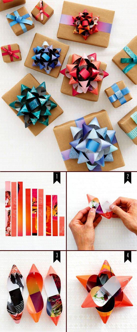 Из чего сделать бантик для подарка 230