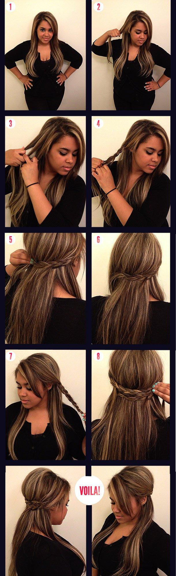 Лёгкие причёски на каждый день для волос средней длины