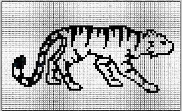 Фенечки прямым плетением схемы тигр