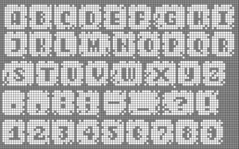 Схемы английских букв для плетения фенечки из