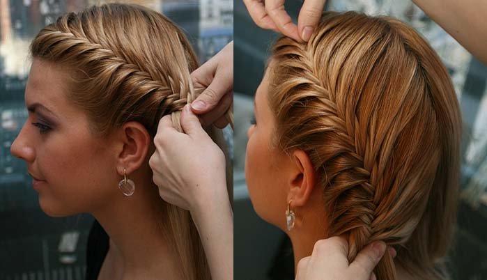 Плетение кос на челке в домашних условиях видео