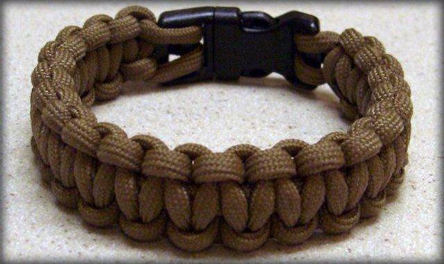 Мужской браслет своими руками из шнура плетеный