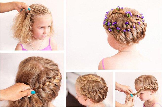 Как сделать красивую прическу девочке с длинными волосами