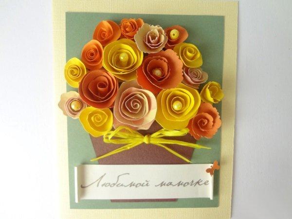 Как можно сделать открытку для мамы своими руками