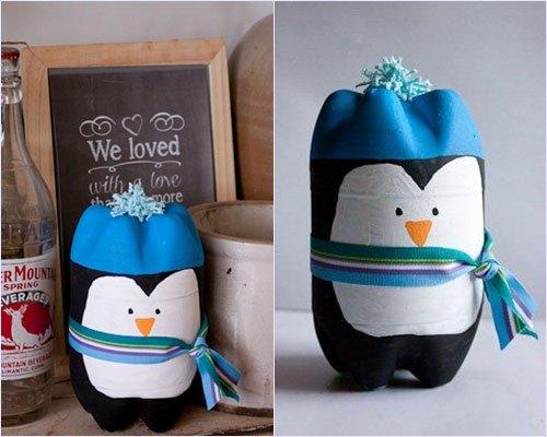 Поделки из бутылок пингвинов 60
