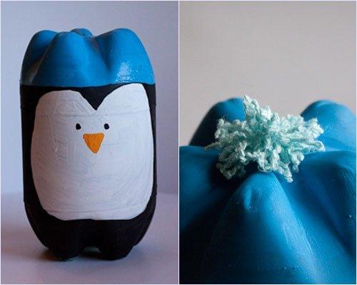 Пингвин из бутылок поделка 2