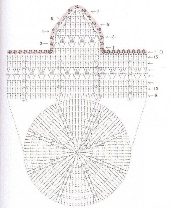 Схема шапочки с ушками для девушки