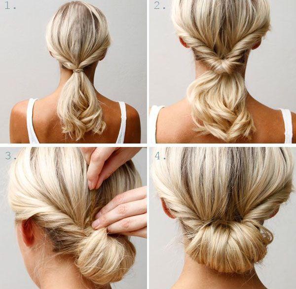 Красивые прически для средних волос своими руками 1