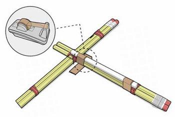 Как сделать арбалет из карандашей своими руками 62