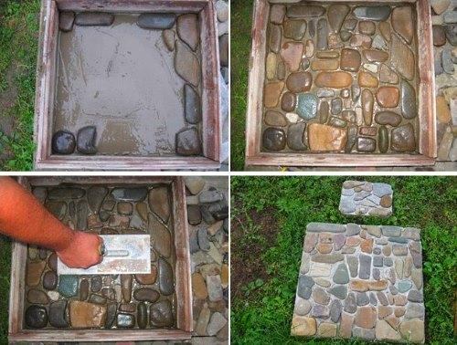 Как выложить брусчатку из камня своими руками 75