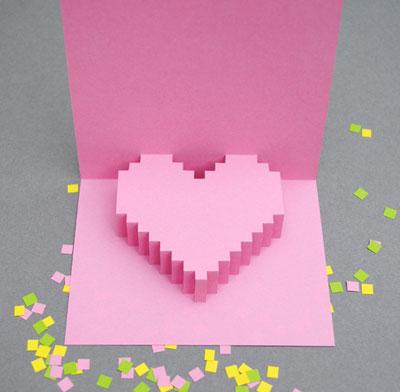 Как сделать объемное сердце для открытки 50