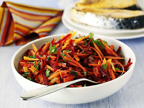 Салат со свеклой и моркови с