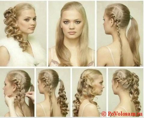 Свадебная причёска на длинные волосы своими руками в домашних условиях фото 57