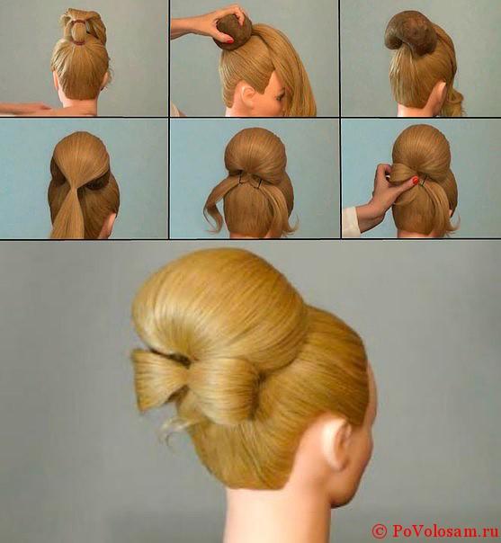 Прически с валиком для волос на длинные волосы