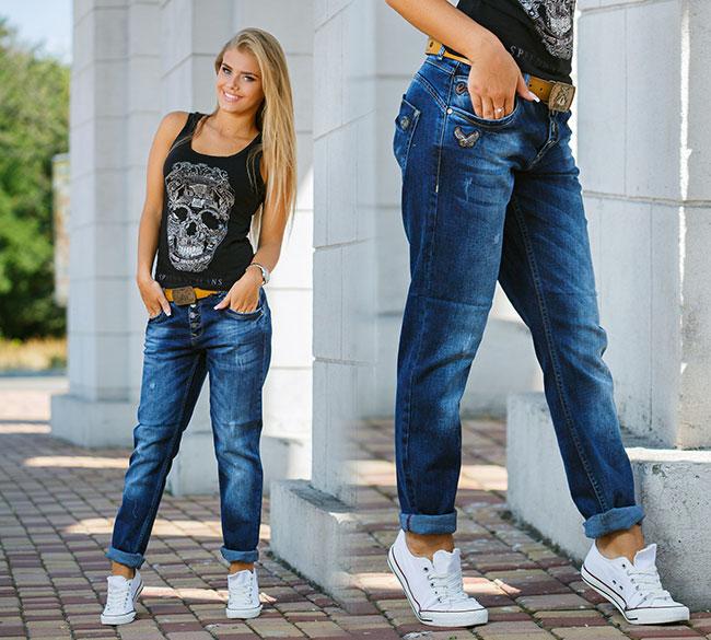 З чим носити джинси бойфренди   76cc791261f76