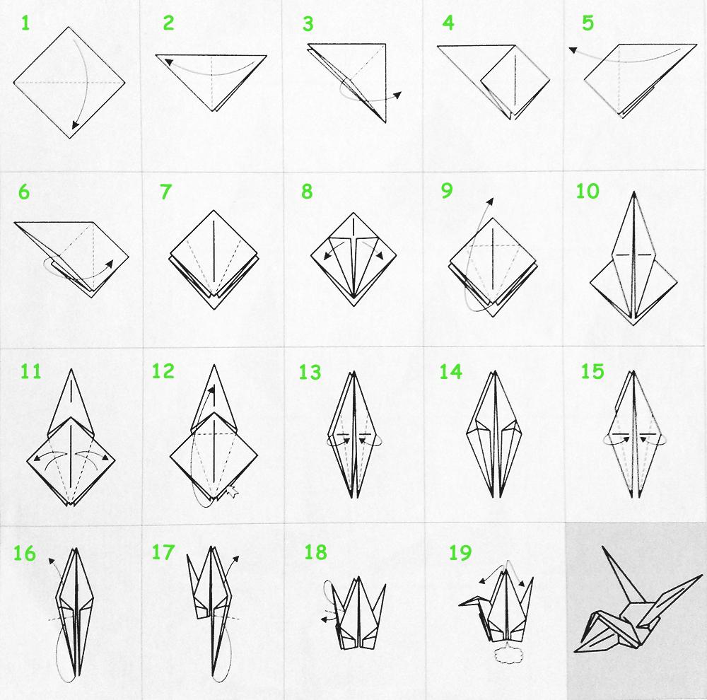 Как сделать из бумаги попугай схема 174
