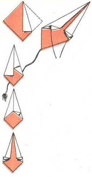 Воздушный змей своими руками из бумаги простой 270