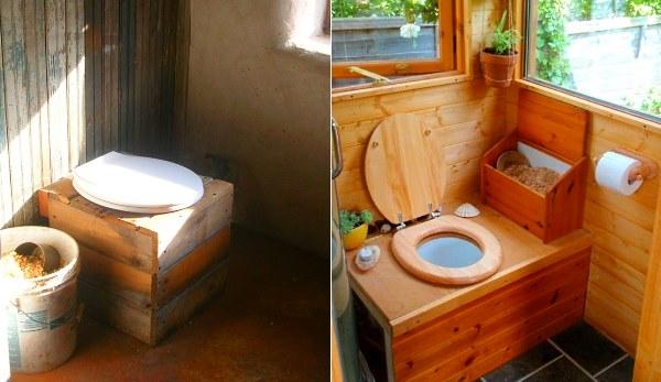 Дизайн дачного туалета внутри своими руками 66