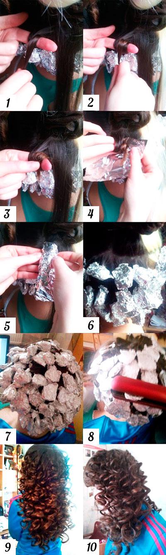 Как сделать кудри на большие бигуди