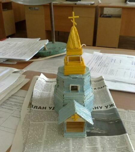 Как сделать бумажный макет храма - Zvezdasib.ru