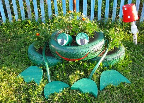Лягушка из колеса фото