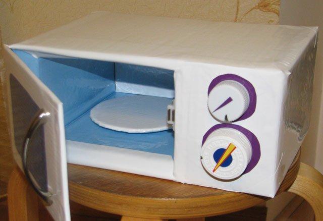 Как сделать игрушечный холодильник из бумаги
