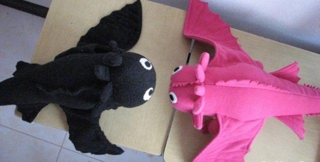 Как сделать мягкую игрушку беззубика