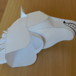 Как сделать голову лошади с бумаги
