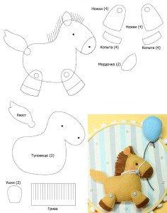 Выкройки игрушек для начинающих простые выкройки своими руками лошадки 85