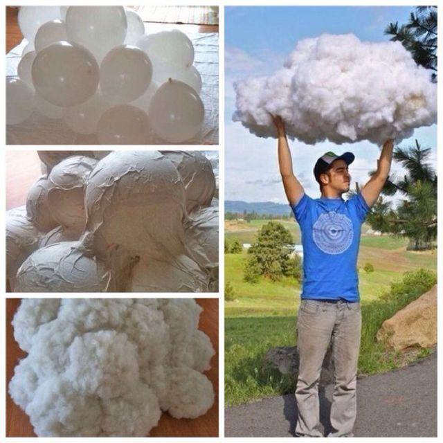 Как сделать облака из ваты своими руками 11